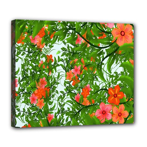 Flower Background Backdrop Pattern Deluxe Canvas 24  x 20
