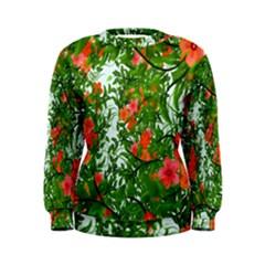 Flower Background Backdrop Pattern Women s Sweatshirt