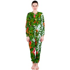 Flower Background Backdrop Pattern Onepiece Jumpsuit (ladies)