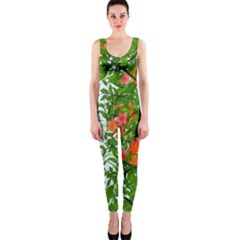 Flower Background Backdrop Pattern OnePiece Catsuit