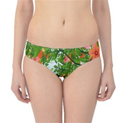Flower Background Backdrop Pattern Hipster Bikini Bottoms