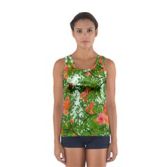 Flower Background Backdrop Pattern Women s Sport Tank Top