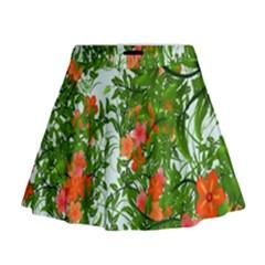Flower Background Backdrop Pattern Mini Flare Skirt