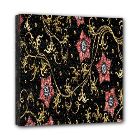 Floral Pattern Background Mini Canvas 8  X 8