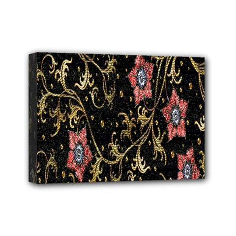 Floral Pattern Background Mini Canvas 7  x 5