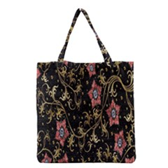 Floral Pattern Background Grocery Tote Bag