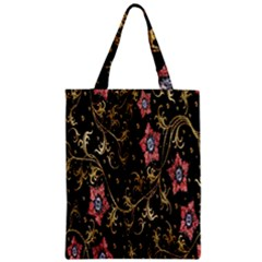 Floral Pattern Background Zipper Classic Tote Bag