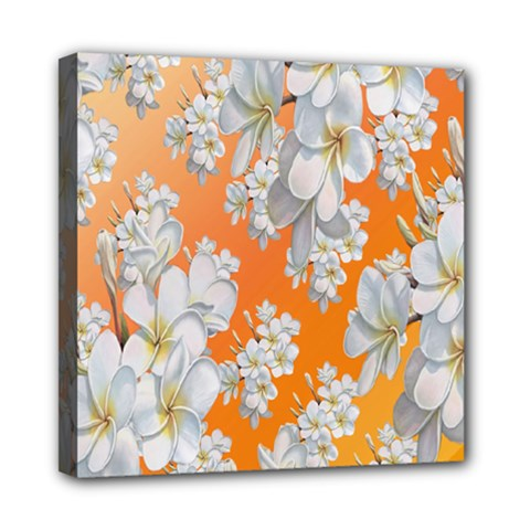 Flowers Background Backdrop Floral Mini Canvas 8  x 8