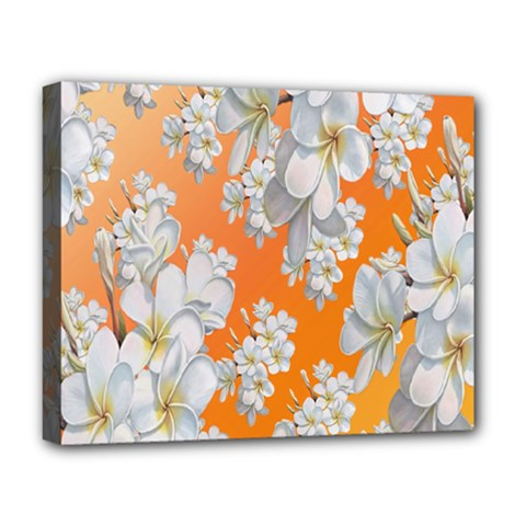 Flowers Background Backdrop Floral Deluxe Canvas 20  x 16