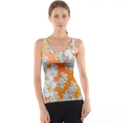 Flowers Background Backdrop Floral Tank Top