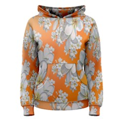 Flowers Background Backdrop Floral Women s Pullover Hoodie