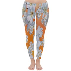 Flowers Background Backdrop Floral Classic Winter Leggings
