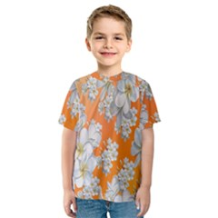 Flowers Background Backdrop Floral Kids  Sport Mesh Tee
