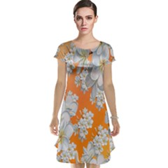 Flowers Background Backdrop Floral Cap Sleeve Nightdress