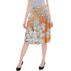 Flowers Background Backdrop Floral Midi Beach Skirt
