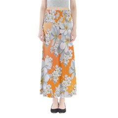 Flowers Background Backdrop Floral Maxi Skirts