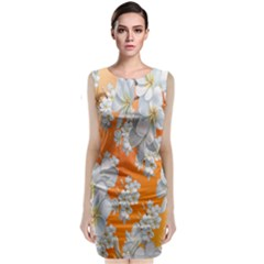 Flowers Background Backdrop Floral Classic Sleeveless Midi Dress