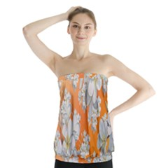 Flowers Background Backdrop Floral Strapless Top