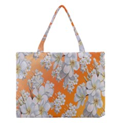Flowers Background Backdrop Floral Medium Tote Bag