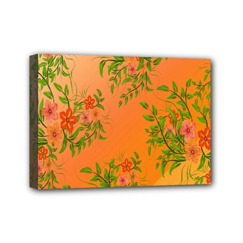Flowers Background Backdrop Floral Mini Canvas 7  x 5