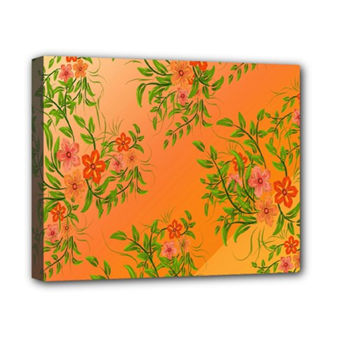 Flowers Background Backdrop Floral Canvas 10  x 8