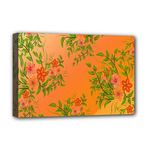 Flowers Background Backdrop Floral Deluxe Canvas 18  x 12