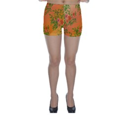 Flowers Background Backdrop Floral Skinny Shorts
