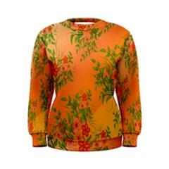 Flowers Background Backdrop Floral Women s Sweatshirt