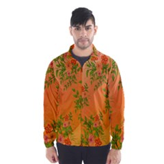 Flowers Background Backdrop Floral Wind Breaker (men)