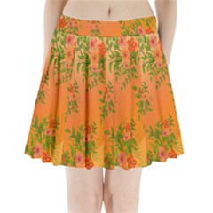 Flowers Background Backdrop Floral Pleated Mini Skirt