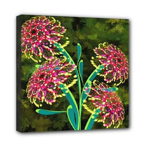 Flowers Abstract Decoration Mini Canvas 8  x 8