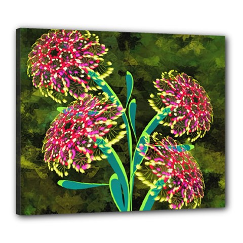 Flowers Abstract Decoration Canvas 24  x 20
