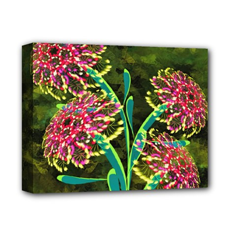 Flowers Abstract Decoration Deluxe Canvas 14  x 11