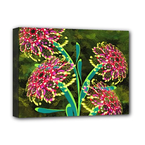 Flowers Abstract Decoration Deluxe Canvas 16  x 12