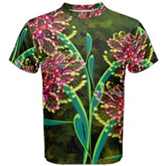 Flowers Abstract Decoration Men s Cotton Tee