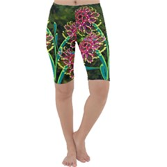 Flowers Abstract Decoration Cropped Leggings