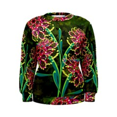 Flowers Abstract Decoration Women s Sweatshirt