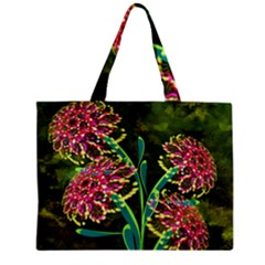 Flowers Abstract Decoration Zipper Mini Tote Bag