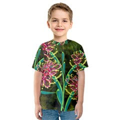 Flowers Abstract Decoration Kids  Sport Mesh Tee