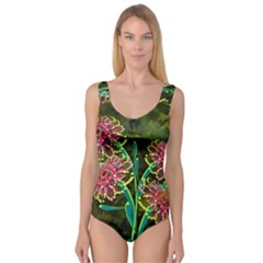 Flowers Abstract Decoration Princess Tank Leotard