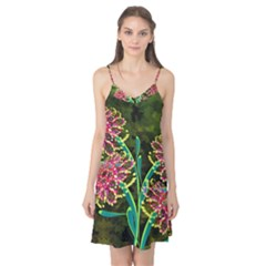 Flowers Abstract Decoration Camis Nightgown
