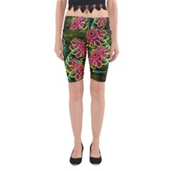 Flowers Abstract Decoration Yoga Cropped Leggings