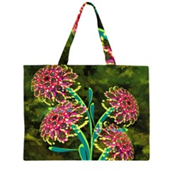 Flowers Abstract Decoration Large Tote Bag