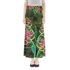 Flowers Abstract Decoration Maxi Skirts
