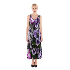 Flowers Blossom Bloom Plant Nature Sleeveless Maxi Dress