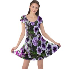 Flowers Blossom Bloom Plant Nature Cap Sleeve Dresses