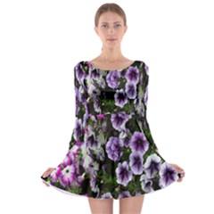 Flowers Blossom Bloom Plant Nature Long Sleeve Skater Dress
