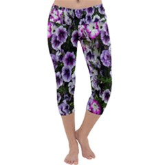 Flowers Blossom Bloom Plant Nature Capri Yoga Leggings