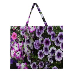 Flowers Blossom Bloom Plant Nature Zipper Large Tote Bag