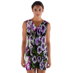 Flowers Blossom Bloom Plant Nature Wrap Front Bodycon Dress